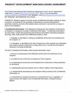 disclosure agreement template word india template