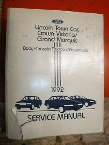 car repair manuals online free 1992 ford crown victoria security system 1992 ford crown victoria mercury grand marquis lincoln town car service manual ebay
