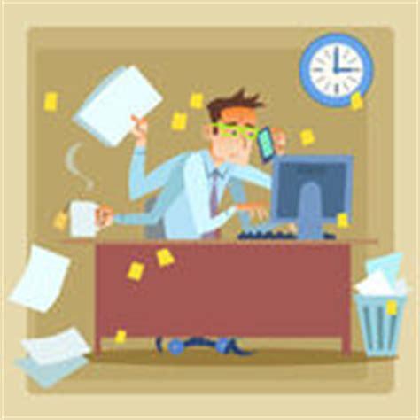 bureau secr騁aire blanc secrétaire très occupé photos libres de droits image 5044458
