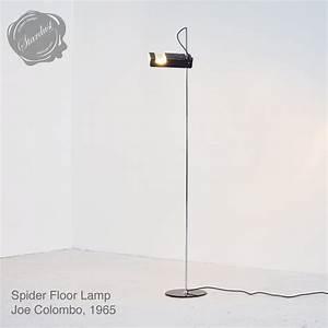 oluce spider lamp spider floor lamp by joe colombo With chandelier spider floor lamp