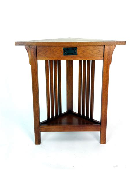 Mission Style Corner Table By Wayborn In Side Tables