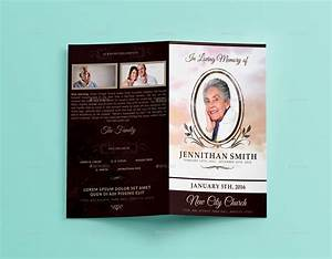 loving memory funeral program brochure template 01 by With funeral handouts template