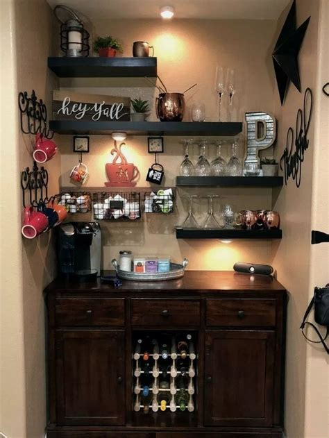 Curious as to what an elegant design for home coffee. 43 Fantastic Diy Home Decor Ideas 602075043920280257 in 2020   Coffee bar home, Home coffee ...