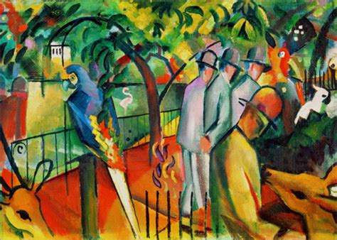 August Macke Zoological Garden Poster Posterlounge