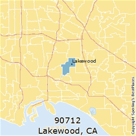 places    lakewood zip  california