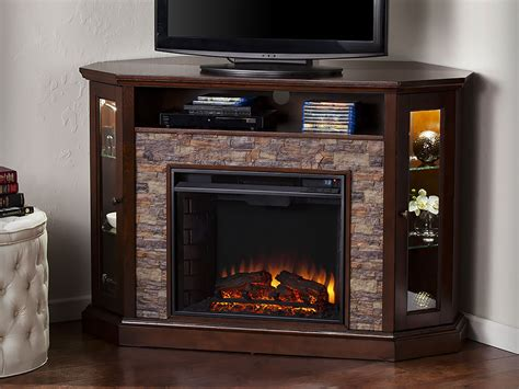 Redden Wall/corner Electric Fireplace Tv Stand In Espresso