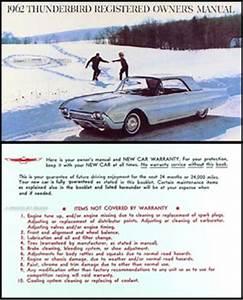 1962 Ford Thunderbird Repair Shop Manual Original