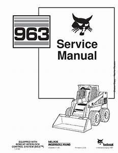 Bobcat 963 Skid Steer Service Manual Pdf Download