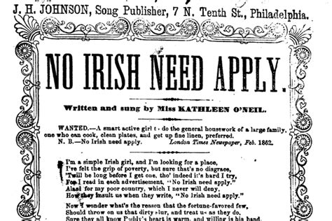 No Irish Need Apply Celtic Music