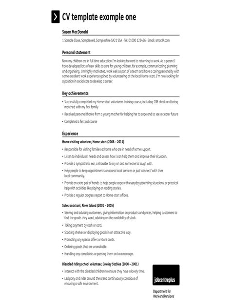simple cv template 5 free templates in pdf word excel
