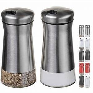 Chefvantage, Salt, And, Pepper, Shakers, Set, With, Adjustable, Holes