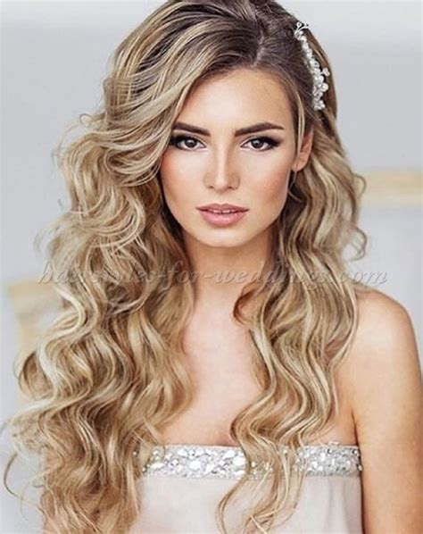 long wedding hairstyles   hair down wedding hairstyle