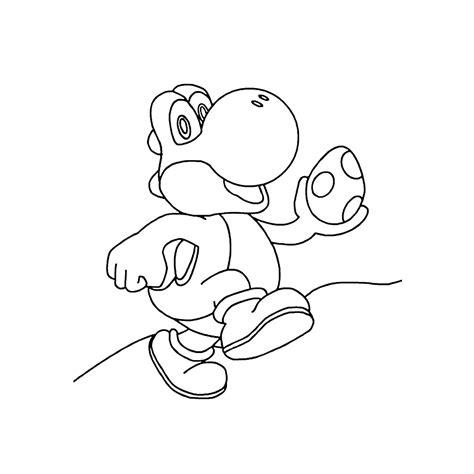 Kleurplaat Mario Op Yoshi by Leuk Voor Yoshi Met Een Ei