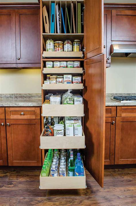 kitchen cabinet storage shelves pantry pull out shelves custom shelves shelfgenie 5817