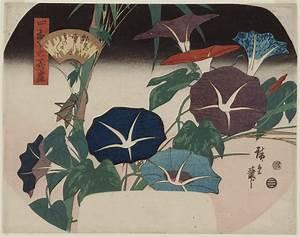 Utagawa Hiroshige: Morning Glories and Cricket, from the ...