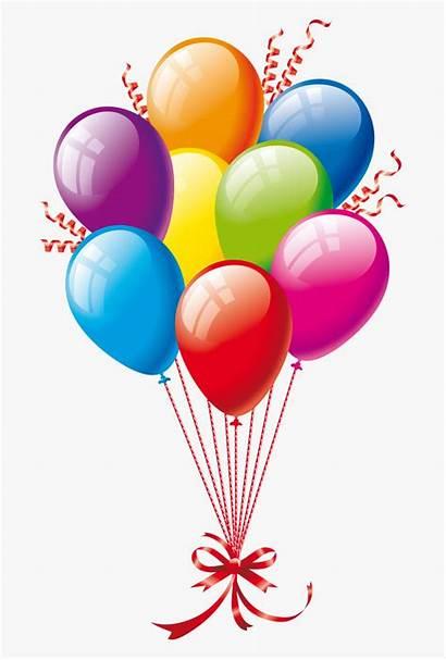 Balloons Birthday Happy Clipart Cartoon 21st Belated