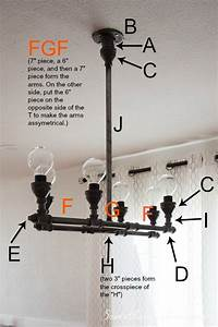 Diy Steel Pipe Chandelier