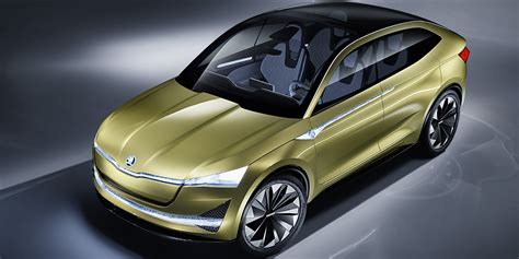 skoda vision  revised ev concept revealed