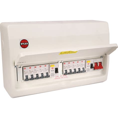 wylex nmx metal 17th edition amendment 3 high integrity 10 mcbs consumer unit