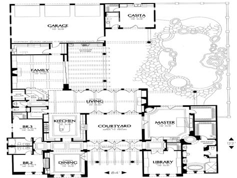 courtyard home plans small style house plans house plans with