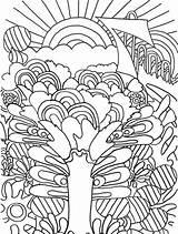 Coloring Sunrise Crazy Trippy Frog Getcolorings Printable Getdrawings Colorings sketch template