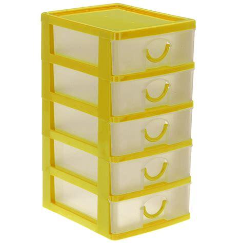bloc rangement bureau bloc coffret tour boite de rangement 5 tiroirs plastique