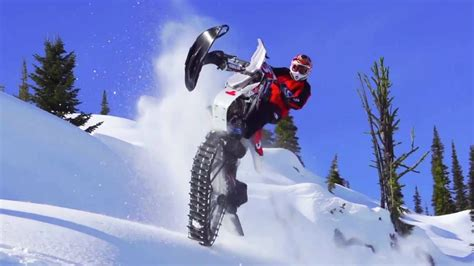 motocross snow bike ronnie renner snow biking in idaho backcountry youtube