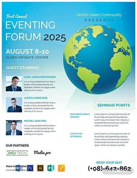 business event flyer template word  psd