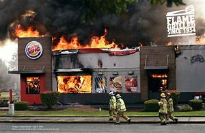 Burger King Burning Stores - The Inspiration Room