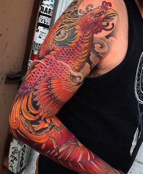 phoenix tattoo sleeve ideas  pinterest