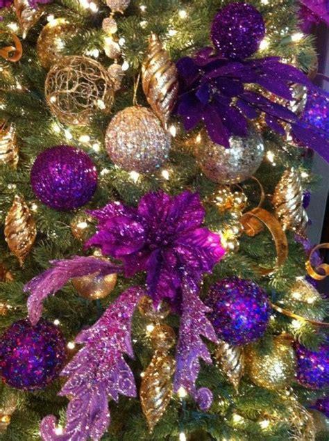 purple christmas tree decorations ideas