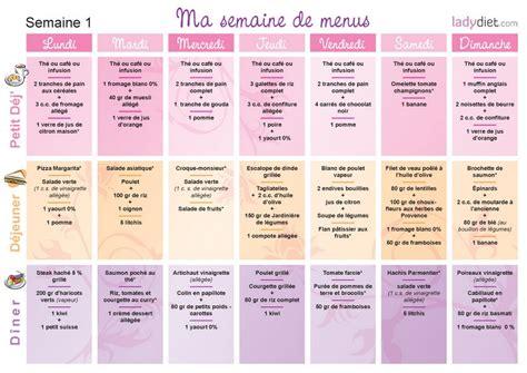 recette de cuisine regime menus pour mincir sur une semaine ou pour un mois de regime