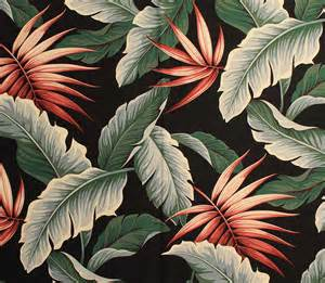Fabric Land Curtains by Trend Tropical Leaf Prints