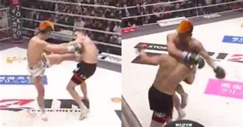 tenshin nasukawa brutalizes opponents body  tko win