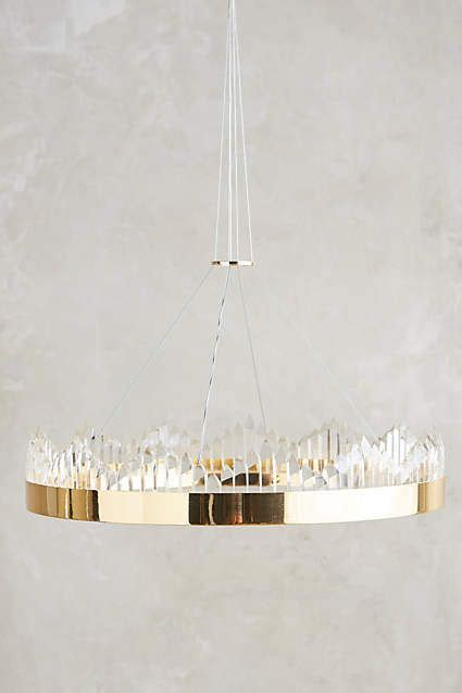 gold table coronet chandelier the o 39 jays anthropologie and