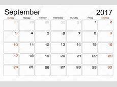 planning Calendar September 2017 — Stockvector © mitay20