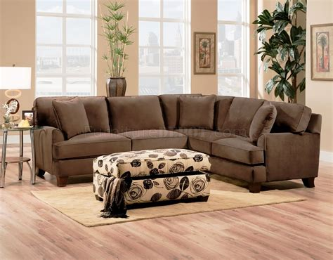 fabric sectional sofas chocolate fabric sectional sofa w optional chair