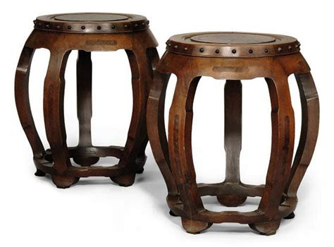 A Pair Of Chinese Wooden Stools  Circa 1900 Stool