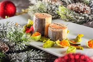 Fish Starter Food On White Plate With Christmas Decoration. Product Photography And Modern ...