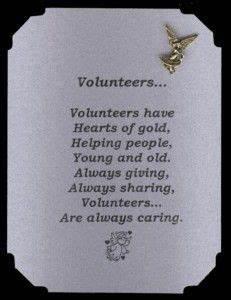 Thank You Volunteers Poems Volunteer Appreciation Poem