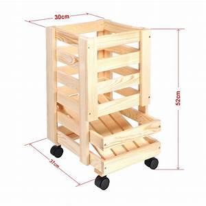 Rollwagen Holz : rollwagen f r haushalt und k che obst kartoffeln holz ~ Pilothousefishingboats.com Haus und Dekorationen