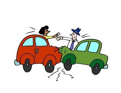 animated wrecked cartoon car crash clipart best