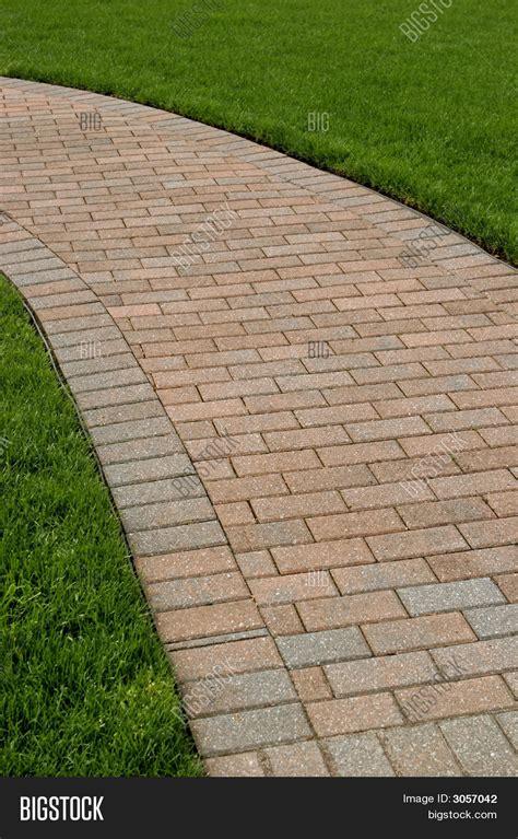 Perfectly Edged Brick Walkway Image & Photo Bigstock