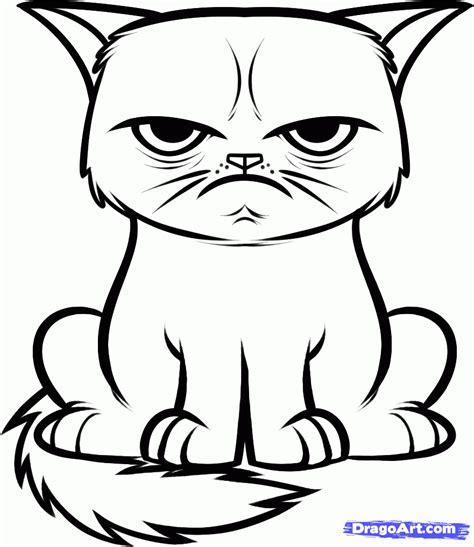 Draw The Grumpy Cat, Tard The Grumpy Cat, Step By Step