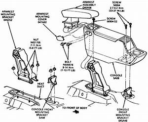 Service Manual  How To Remove Lower Console 1987 Buick