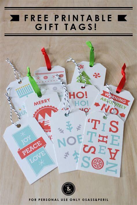 printable christmas gift tags sass peril  inspired room