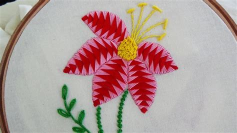 hand embroidery fancy flower stitch youtube