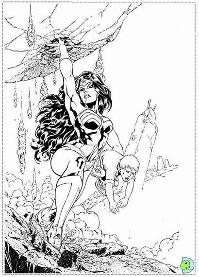 Coloring Wonder Woman Dinokids Close
