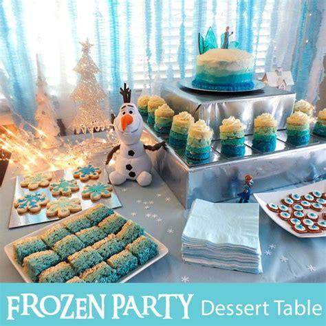 disney frozen dessert table  sisters