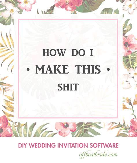 10 design programs for DIY wedding invitations (5 are FREE )